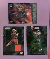 LEBRON JAMES PRIZM GAME USED JERSEY CARD + FIREWORKS + OPTIC STARS INSERT LAKERS