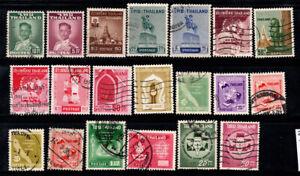 Thailand 1930-50 Gestempelt 100% Persönlichkeiten, Embleme. Statue
