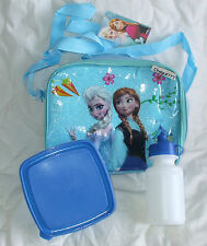 NEW Frozen Lunch Box Bag Sandwich Meal Box Water Bottle Anna Elsa blue