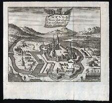 Gyula-Ungheria vista da 1695-ORIGINALE!!!