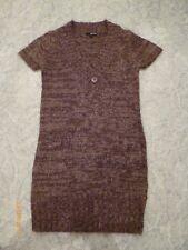 Tally Weijl Damen Mädchen Winter Strickkleid Pullover Gr.M braun V-Auschnitt
