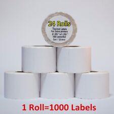 "2.25""x1.25""  24 Rolls Direct Thermal Barcode Labels Zebra LP2824 LP2844 TLP2824"