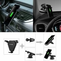 Fast Wireless Car Charger Car Air Vent Dashboard Holder Mount For iPhone X / 8