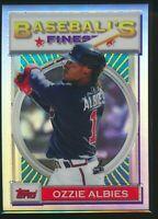 2020 Topps Finest Flashbacks Refractor #43 Ozzie Albies Atlanta Braves