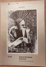 Affiche pour une exposition Max Ernst surréalisme dada surrealismus 1983