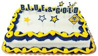 Boy Cub Scout Court of Honor Ceremony Blue and Gold Cupcake Picks 24 Set Lot New