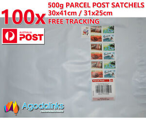 100x 500g Australia Parcel Post Satchel Prepaid $9.3 wth Tracking 30x41 / 31x25