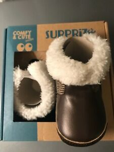 Surprise by Stride rite baby boots 0-6 months brown warm & cozy