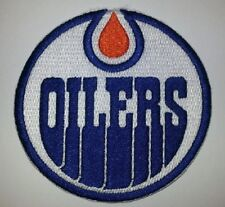"""Edmonton Oilers~Embroidered Patch~3 1/2"""" Round~Iron or Sew~US Seller~Ships FREE"""