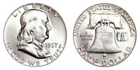 1957-P Franklin Half Dollar Brilliant Uncirculated - BU