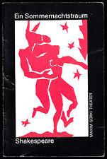 Theaterprogramm, Maxim Gorki Theater, Shakespeare, Ein Sommernachtstraum, 1980