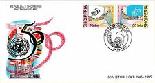 Albanian Stamps 1995. United Nations 50th Anniversary. FDC Set Mich. 2565-2566