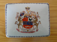 c.19th - Antique China Chinese Armorial Box Export Porcelain Jewelery Box