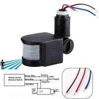 ED Outdoor 110-220V Infrared PIR Motion Sensor Detector 1 Light B1M6 Wall Z4E2