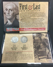 First And Last Year Silver Washington Quarter.