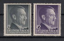 Generalgouvernement  Briefmarken 1941 Freimarken Mi.Nr.71+75 ** postfrisch