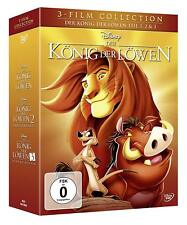 DER KÖNIG DER LÖWEN 1 2 3 Trilogie 3 DVD Box Walt Disney Klassiker NEU & OVP