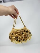 Vintage Gold Sequin Beaded Purse