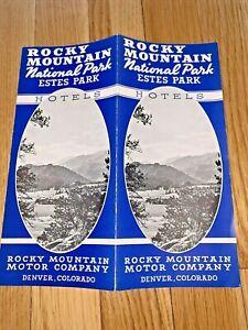 1930's ROCKY MOUNTAIN NATIONAL PARK ESTES PARK Colorado HOTELS Brochure