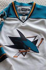 XL Men Reebok San Jose Sharks Camisa Trikot Maglia Jersey NHL Shirt White used