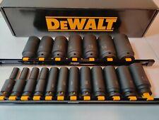 DEWALT DWMT19239 19 PC 1/2 IN DRIVE DEEP SAE IMPACT SOCKET SET FOR DCF899HB