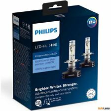 PHILIPS H4 X-treme Ultinon LED 12V 23W P43t-38 Car Headlamps 12901HPX2 6500K