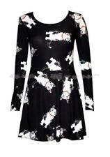 Gothic Langarm Damenkleider aus Polyester