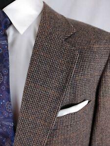 Vintage Adams Row Norfolk Hunting Half Belted Sport Coat Jacket Brown Tweed 44R