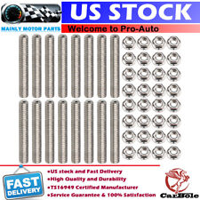 Exhaust Manifold Header Stud Kit For Ford 4.6L 5.4L V8 Stainless Steel 16 Studs