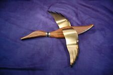 One VTG Masketeers Duck Wood Brass Wall Art Mid Century Modern Free Shipping