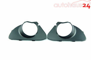 BMW 645CI 650I 04-10 FOG LIGHT TRIM BUMPER COVER LEFT SET LEFT & RIGHT GENUINE