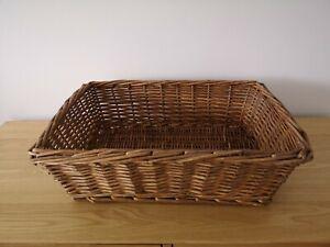 Medium vintage wicker hamper gift or display basket