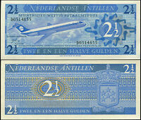 ANTILLAS NEERLANDESAS BILLETE 2 1/2 GULDEN. 08.09.1970 LUJO. Cat# P.21a
