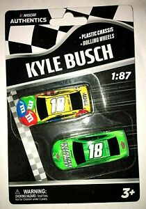 2020 Wave 01 Kyle Busch #18 NASCAR Authentics Twin Pack 1/87 Scale