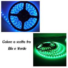 STRISCIA A LED Blu - Verde 5 METRI SMD 300 LED  Alta luminosità led strip