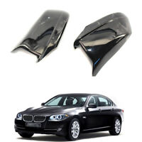 Pair Gloss Black Side Mirror Housing Cap Covers For BMW 5-Series F10 2011-2013