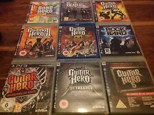 GUITAR Hero Ps3 X9 METALLICA 3 Leggende Rock Tour Mondiale AEROSMITH GUERRIERI FASCIA 5