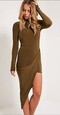 SALE £10* Womens Khaki bodycon drape dress size6 BNWT*