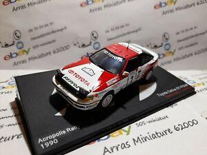 Toyota Celica GT-Four - 1990 - Acropolis Rally - boite pléxi 1:43 eme ( neuf )