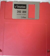 Imation 2HD IBM Formatted 1.44MB Floppy Disk (Blank)