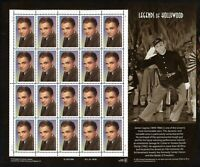 SCOTT 3329 1999 33 CENT JAMES CAGNEY ISSUE MINT SHEET NH OG VF CAT $22!