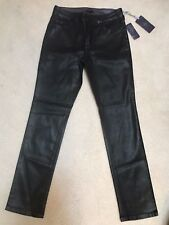 NWT NYDJ Not Your Daughters Jeans COATED CHARCOAL BLACK GYPSY Skinny Size 10P
