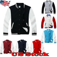 Men's Fashion Varsity Jacket College University Letterman Baseball Coats Outfits