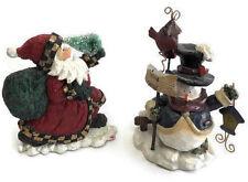 Christmas Decoration Tabletop Decor Santa Claus Elf Frosty Ceramic Figurines