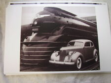 1938 STUDEBAKER  WITH TRAIN  11 X 17  PHOTO  PICTURE