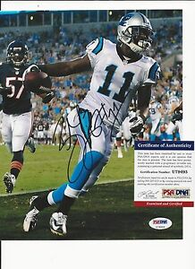 BRANDON LAFELL CAROLINA PANTHERS SIGNED COLOR 8X10 W PSA COA U79493