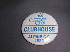 VTG Mitsubishi Motors Ocean State Open Clubhouse Alpine C.C. 1989 Pinback Button