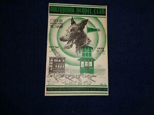 1938 MULTNOMAH KENNEL CLUB DOG RACING PROGRAM