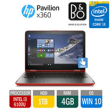 HP PAVILION x360 13 Touchscreen Beats Tablet Laptop i3 2.3GHZ 4GB 1TB RED 2016