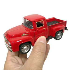 1Pcs Red Metal Truck Christmas Ornament Kids Gifts Car Toy Xmas Table Top Decor